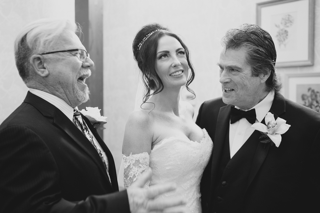 bride with two dads
