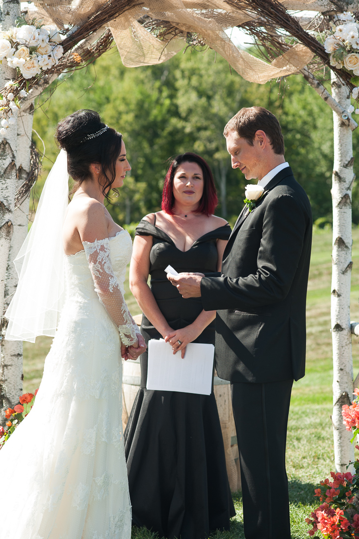 outdoor exchange of vows