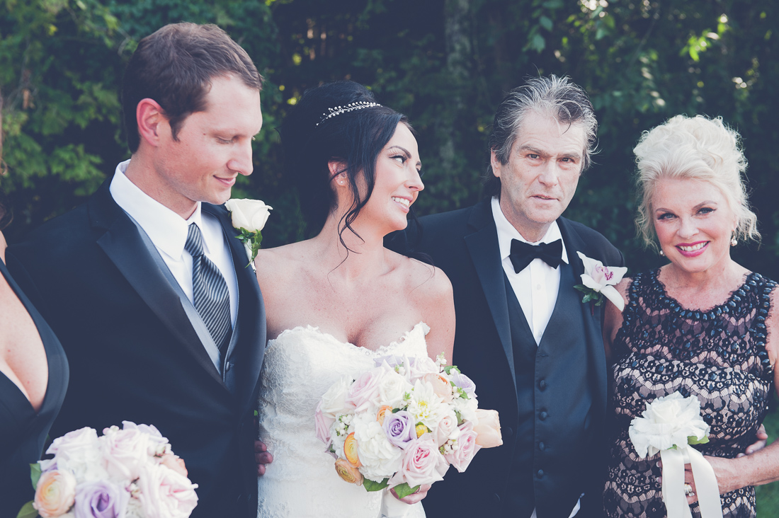 glamorous wedding party natural portrait