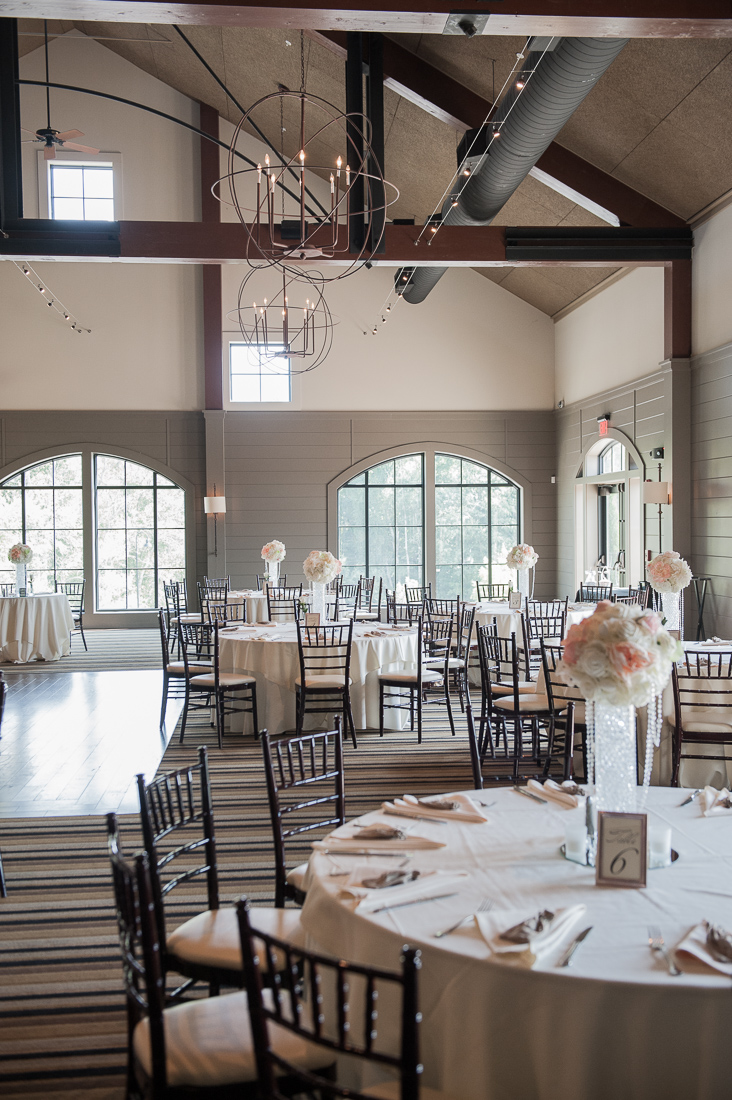 labelle winery ballroom set for wedding